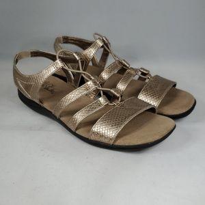 LIFESTRIDE Metallic Gold Sandals